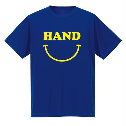 HAND スマイル ドライメッシュTシャツ ブルー