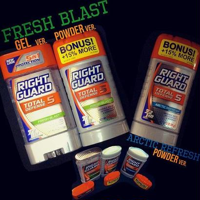 RIGHT GUARD® DEODORANT-TOTAL DEFENSE5-