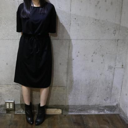 BELTED DRESS Black