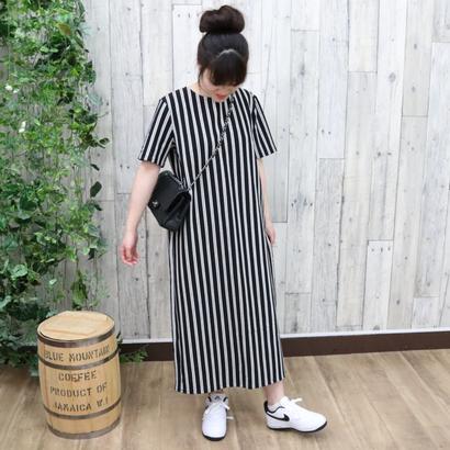LONG DRESS black/white