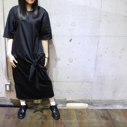 KNOTTED LONG DRESS black