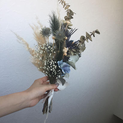 オーダー blue bouquet・boutonniere