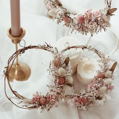 三日月pink wreathe