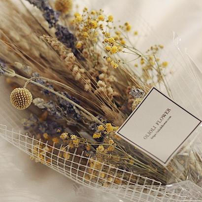 yellow blue bouquet