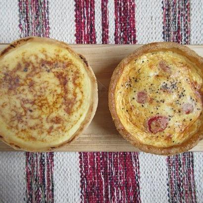 チーズケーキとキッシュのセット「山の幸のコンビ」(各4号サイズ)