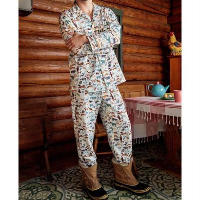メンズパジャマ 長袖 ストレッチ BedHead Pajamas ベッドヘッドパジャマズ Wildlife