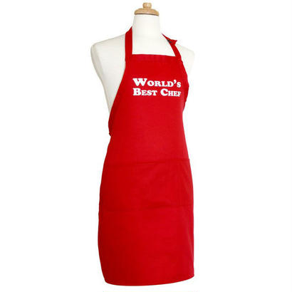 Flirty Aprons メンズエプロン World Best Chef Red