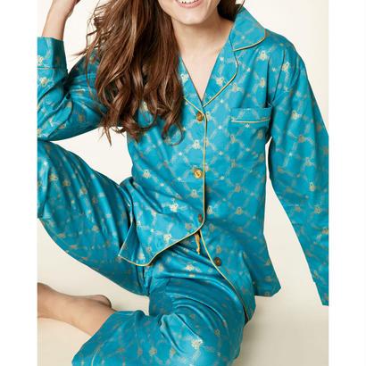 レディースパジャマ 長袖 コットン BedHead Pajamas ベッドヘッドパジャマズ Peacock Queen Bee