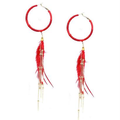 ピアス K18コート Freedom Rings Feather Earrings エティカ Ettika