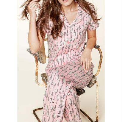 レディースパジャマ 半袖 ストレッチ BedHead Pajamas ベッドヘッドパジャマズ Pink Spooning