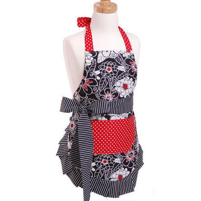 Flirty Aprons 子供エプロン Scarlet Blossom