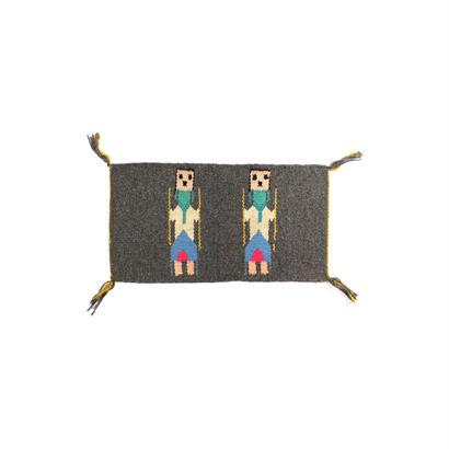 "1970s wool small rug ""Yei"""