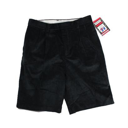 Dead Stock DENIS 2tuck corduroy shorts (Black)