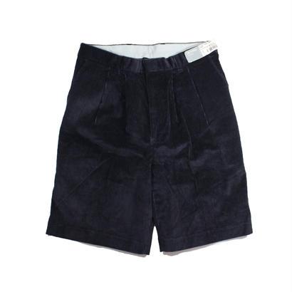Dead Stock DENIS 2tuck corduroy shorts (Navy)