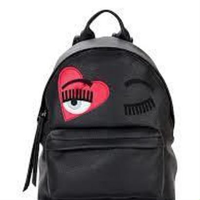 CHIARA FERRAGNI キアラフェラーニ Flirting Heart faux-leather backpack 定価$477