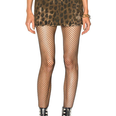 R13 R13 Leopard-Print Denim Skirt スカート 定価$365