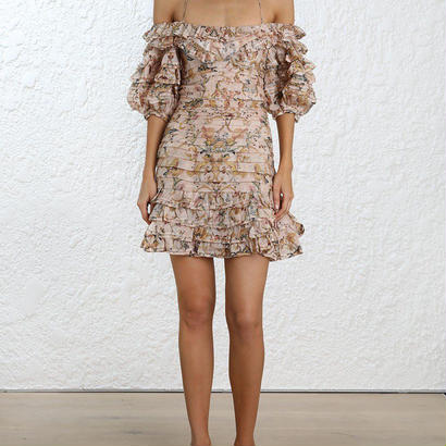 zimmermann ジマーマン Painted Heart Folds Ruffle Dress オールインワン 定価$1600