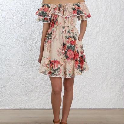zimmermann ジマーマン Laelia Frill Tier Short Dress ワンピース$530