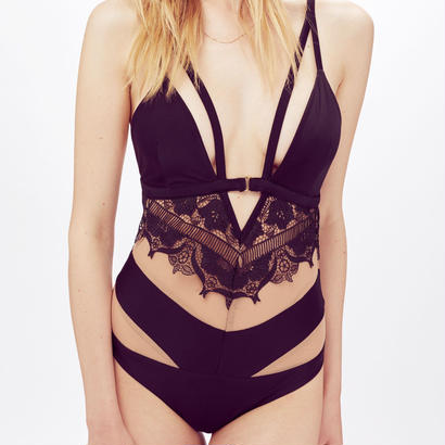 for love & lemons   Beverly Lace One Piece 水着
