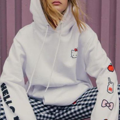 LAZY OAF  Lazy Oaf Hello Kitty Oversized Hoodie