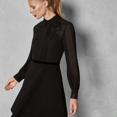 ted baker  テッドベーカー Embellished dress with collar $525