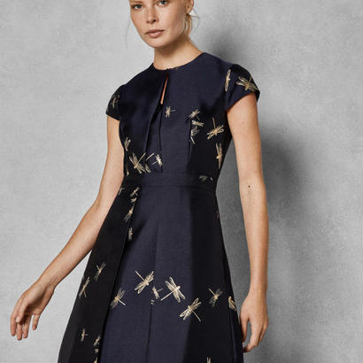 ted baker  テッドベーカー Dragonfly jacquard dress $395