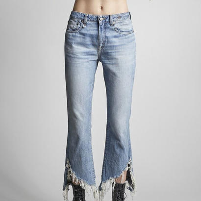 R13 Kick Fit Distressed Hem Jeans   デニムパンツ 定価$395