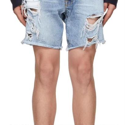 FEAR OF GOD  Distressed Denim Cutoff Shorts