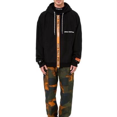 Heron Preston(ヘロンプレストン) Black Zip Hooded Jacketパーカー 定価$450