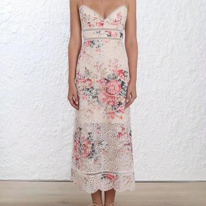 zimmermann ジマーマン Laelia Diamond Floral Midi Dress ワンピース$695