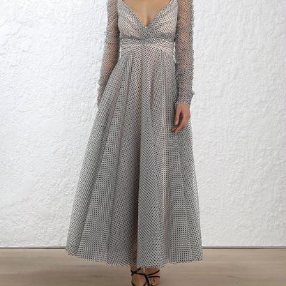 zimmermann ジマーマン Tempest Ballet Dress in Buff/Black Dot ワンピース$1600