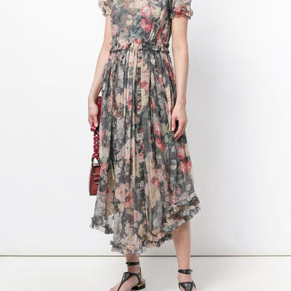 zimmermann ジマーマン washed floral print asymmetric hem dress ワンピース  定価$1468