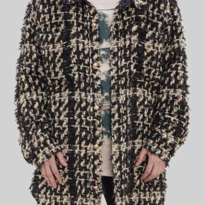 FAITH CONNEXION フェイスコネクション Tweed OverShirt シャツ 定価12万