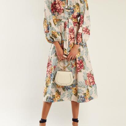 Zimmermann ジマーマンKali floral-print tie-waist linen shirtdress 定価$770