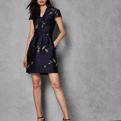 ted baker  テッドベーカー Sugarplum jacquard dress $395