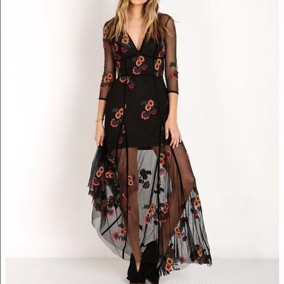 for love & lemons  Elenora Maxi Dress Black   ワンピース $316