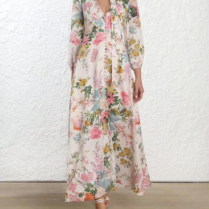 zimmermann ジマーマン HEATHERS PLUNGE LONG DRESS ワンピース$695