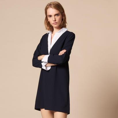 sandro サンドロ    A-LINE DRESS WITH A SHIRT COLLAR  ワンピース $320