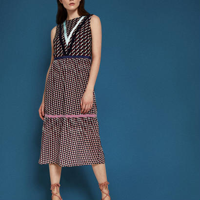 ted baker  テッドベーカー Knitted woven midi dressワンピース$290