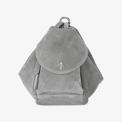 MANU atelierマニュアトリエ Red fernweh Mini suede backpack $584バッグ グレー