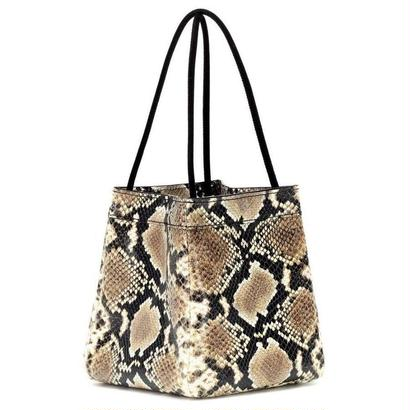 Rejina Pyo  レジーナピョウ Rita snake-printed leather tote Beige バッグ 定価$585