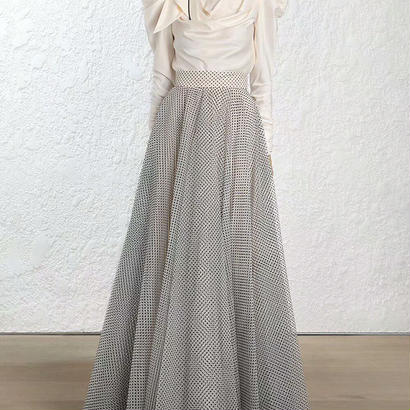 zimmermann ジマーマン Dotted Tulle Skirt in Neutralsスカート$700