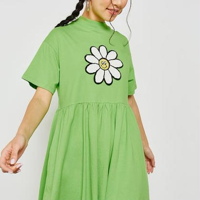 LAZY OAF  aisy Smock Dress