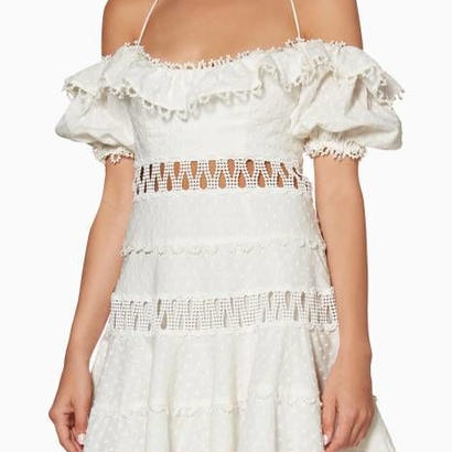 zimmermann ジマーマン Melody off-the-shoulder dress ワンピース$795