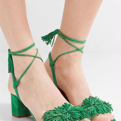 AQUAZZURA  サンダル Wild Thing Fringe City Sandals $785