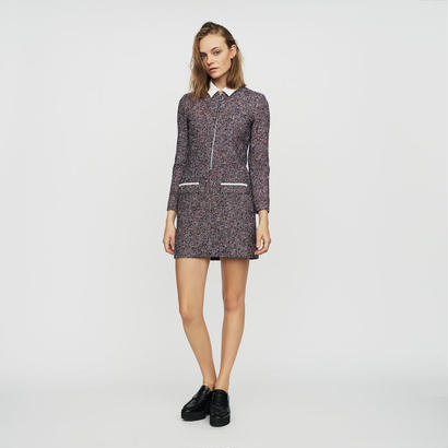 Maje マージュ TWEED SHIRT DRESS ワンピース 定価$470