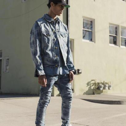 FEAR OF GOD  Acid-Washed Ankle-Zip Slim Jean