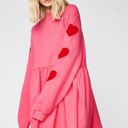 LAZY OAF   ELVET HEART SWEATER DRESS
