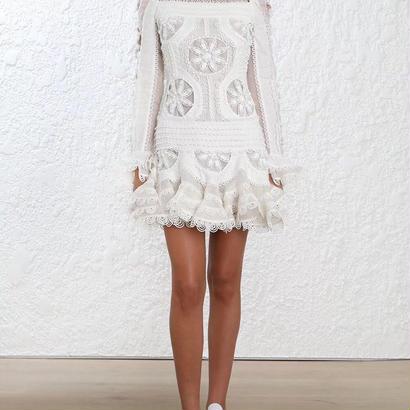 zimmermann ジマーマン White Breeze Doily Formal Dress ワンピース$3000