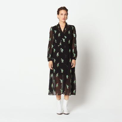sandro サンドロ  LONG WRAP DRESS ワンピース $500